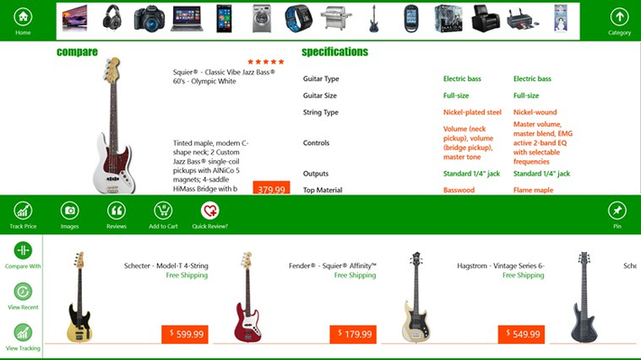 Compare product features, specifications and prices for products from your favorite brands