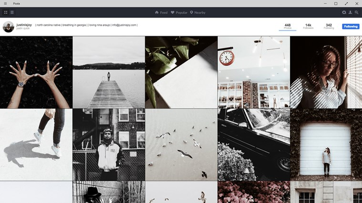 Grid view shows off each user's personal style.