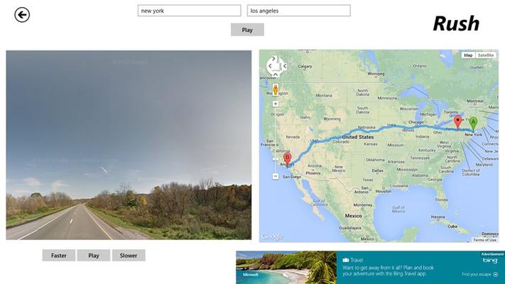 StreetView Rush for Windows 8