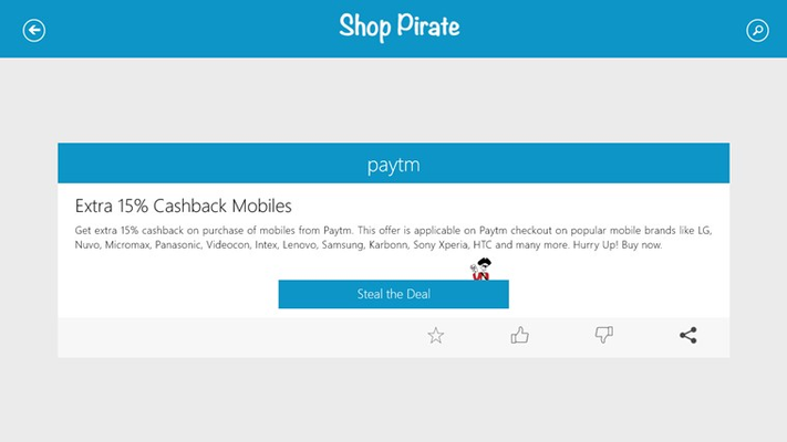 Shop Pirate Coupons for Windows 8