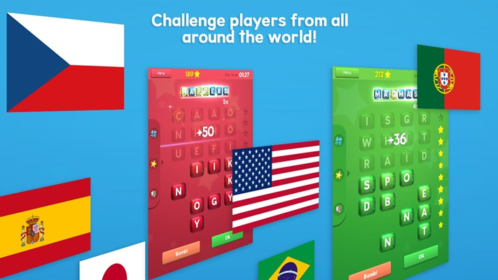 Challenge players from all around the world!