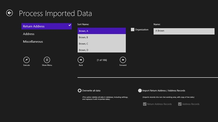 Importing data to restore app's database