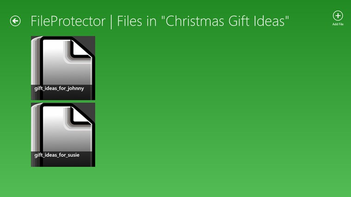 Protect a new file, or view/unlock a previously protected file