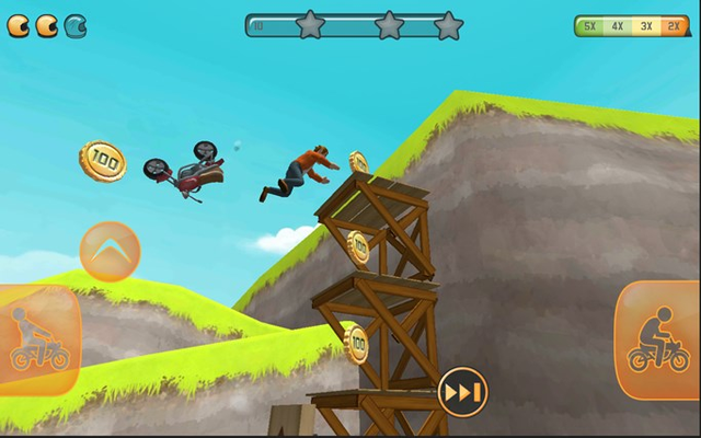 Player can also jump out of the bike