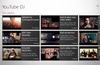 Browse through your YouTube playlists and channels