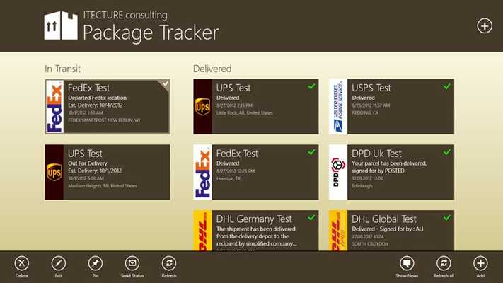 Package Tracker for Windows 8
