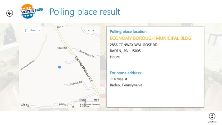 Polling place location