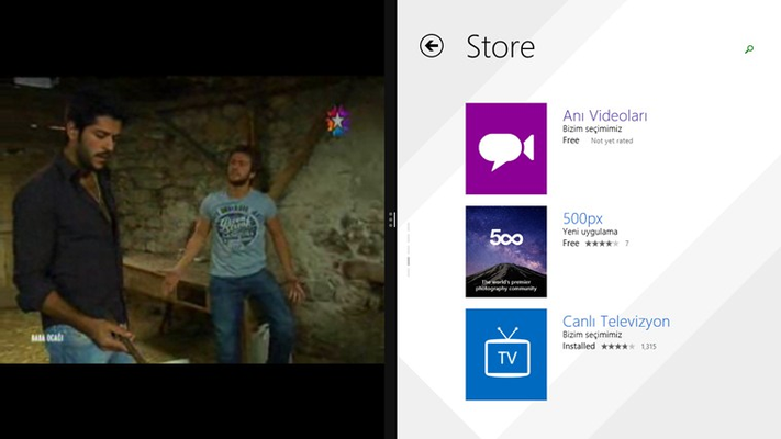 Canlı Televizyon for Windows 8