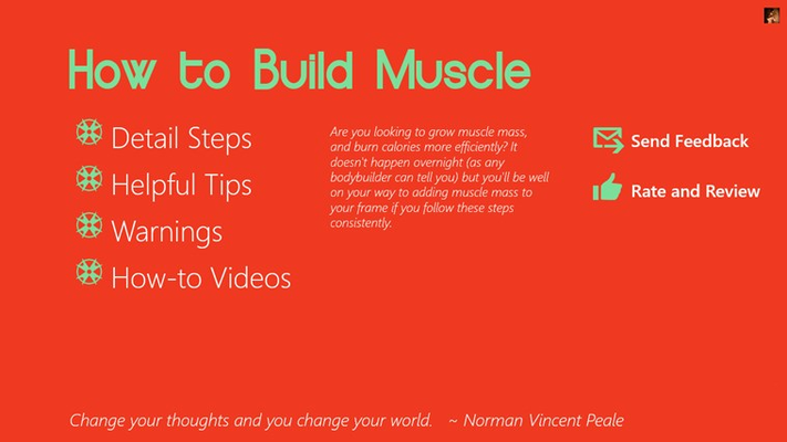 How to Build Muscle for Windows 8