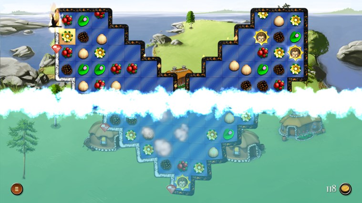 Plenty of varying gameplay mechanics, such as locked tiles, boulders and tar.