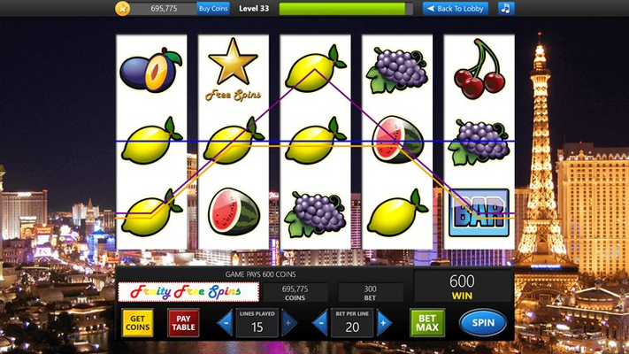 Test your luck in this classic fruit-reel themed machine.