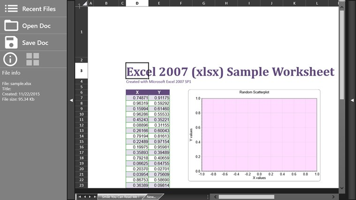 Editor for Excel + for Windows 8