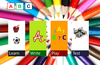 ABC app on launch with four options of Learn, Write, Play and Test!