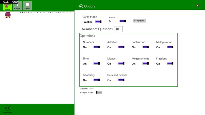 Math Flashcards Grade 2 for Windows 8