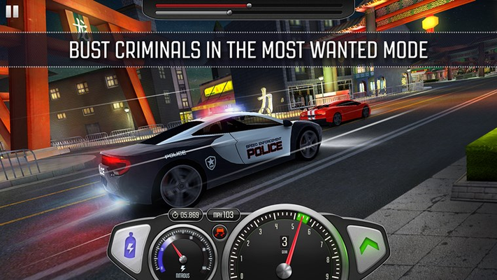 Adrenaline inducing Most Wanted police chases