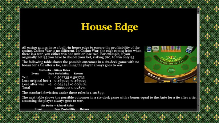 Casino War is one of the best table games to start with due to its simple rule set.