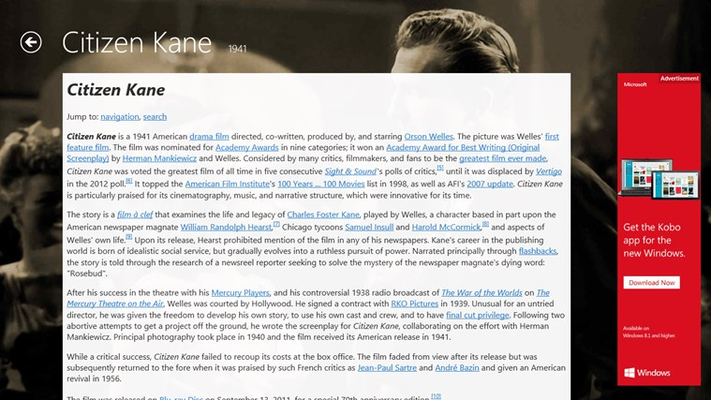 Read Wikipedia articles from inside the app.