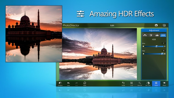 High-Dynamic Range (HDR) effects bring out new depths of detail in your photos.