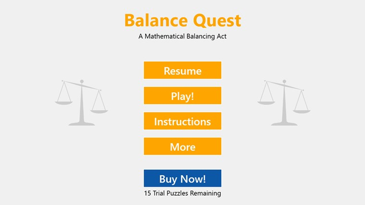 Welcome to Balance Quest!