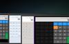 Basic calculator in snapped mode, scientific in landscape mode