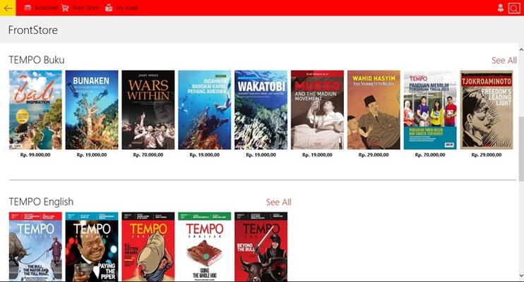 TEMPO Bookstore for Windows 8