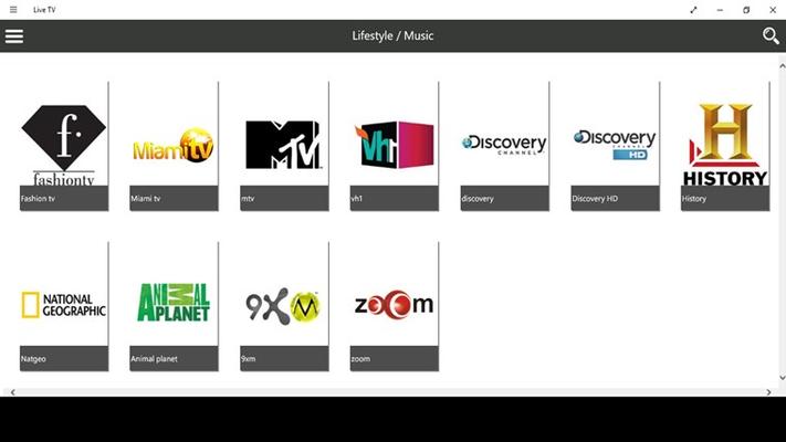 Live TV for Windows 8
