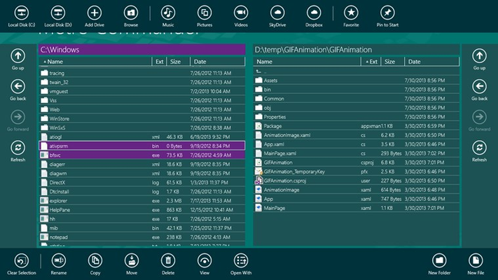 Metro Commander Pro for Windows 8