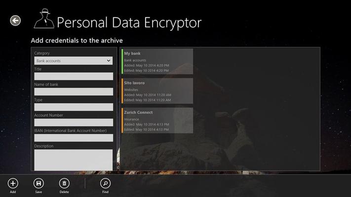 Credentials encryption