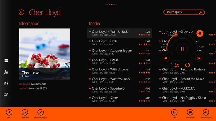 Playlist info