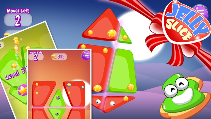 Jelly Slice, a unique brain and puzzle game!