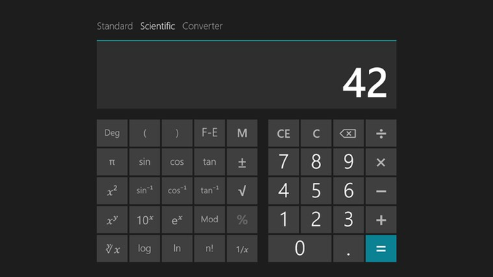 Use powerful scientific calculator functions
