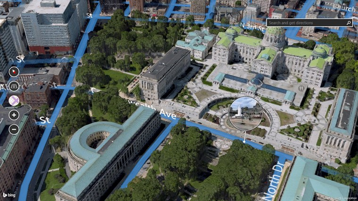 Preview a location with Streetside coverage maps and lenses.