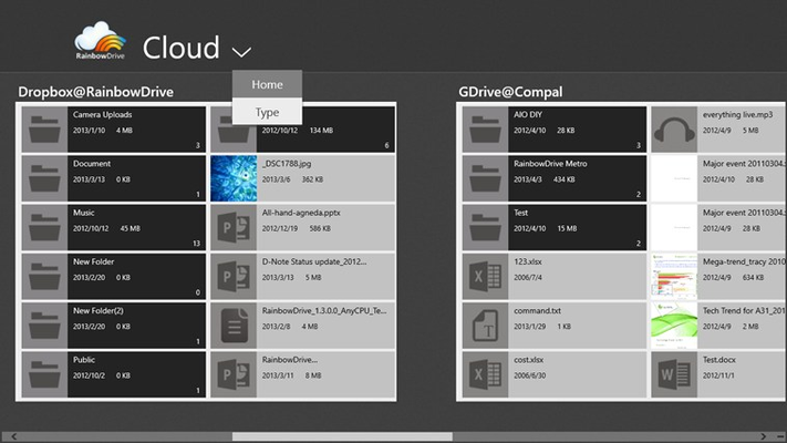 View files by cloud storage.