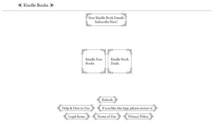 Kindle Books Main Page