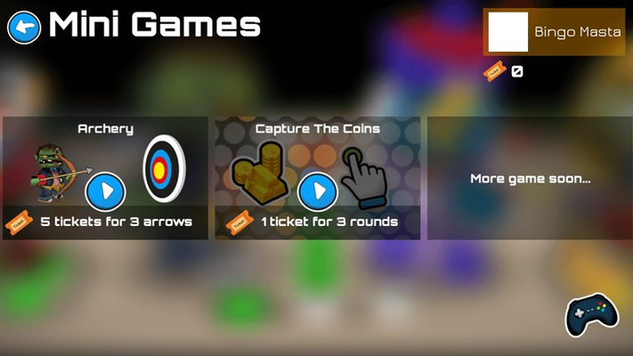 Play mini games to earn more free coins.