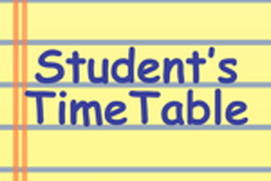 Student's TimeTable