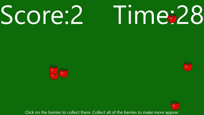 Click on berries to collect them