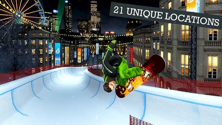 21 unique snowboard locations