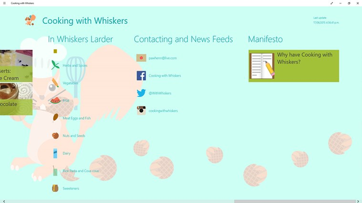 Cooking with Whiskers! for Windows 8