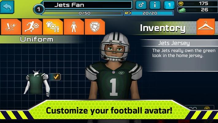 Customize you football avatar!