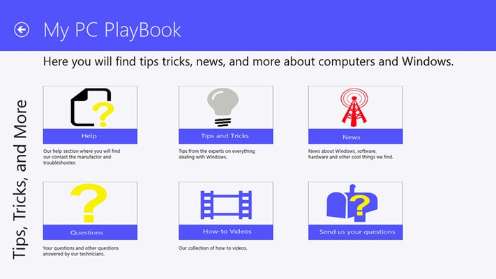 My PC Playbook for Windows 8