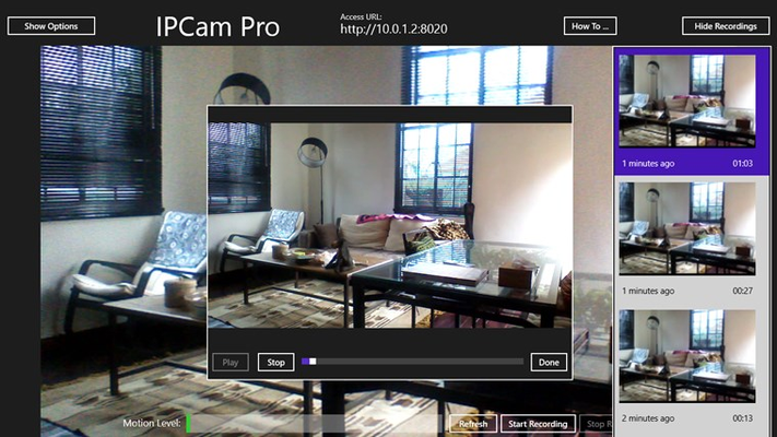 IPCam Pro for Windows 8