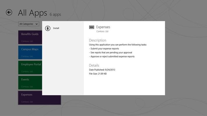 App details dialog