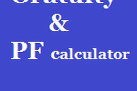 Gratuity and PF calculator India