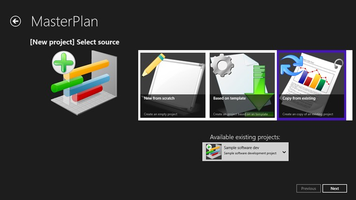 Use templates or copies of existing projects for creating new project instances.