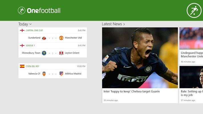 Onefootball for Windows 8