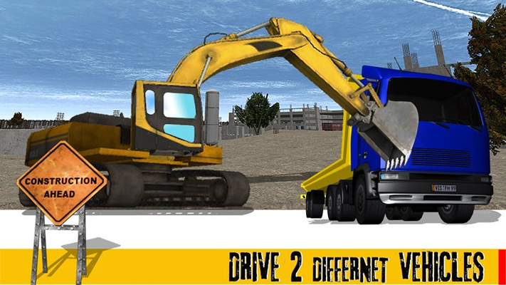 Sand Excavator Crane Sim - City Heavy Construction
