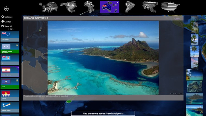 View every flag and over 1500 photos for over 100 countries and territories in Triviopedia.