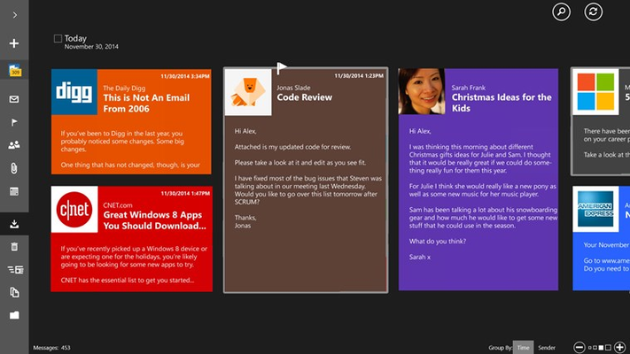 TouchMail for Windows 8
