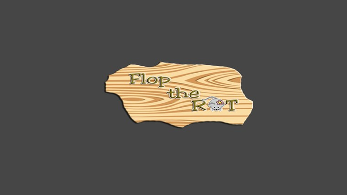 The Splash screen of the Flop the rat game